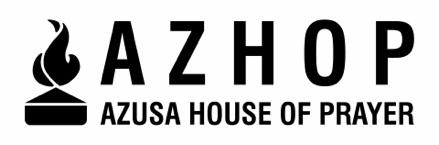 Azusa Pacific University - Azusa House of Prayer (AzHOP)